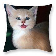 In Memoriam Baby Gussy Throw Pillow