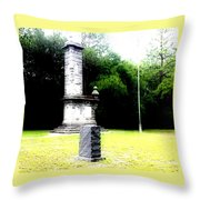 In Memory Of Olustee Battle Throw Pillow