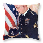 In Memory Of Rob Throw Pillow