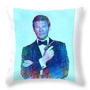 In Memory Of Roger Moore Throw Pillow