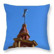 In Mexico Bell Tower Throw Pillow