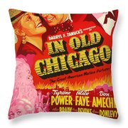In Old Chicago 1937 Throw Pillow
