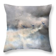 In One Smoking  Row Throw Pillow