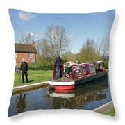 In Papercourt Lock On The Wey Navigations Throw Pillow