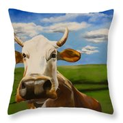 In Pasture Throw Pillow