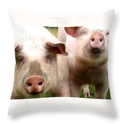 In Pig Times And Bad Times We Will Always Be Together  Throw Pillow