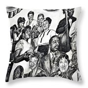 In Praise Of Jazz IIi Throw Pillow