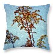 In Praise Of Weeds II Throw Pillow