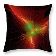 In Red 0020 Throw Pillow