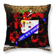 In Remembrance 5th Battalion Throw Pillow