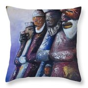 In Rows Throw Pillow