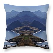 In Search Of Atlantis Throw Pillow