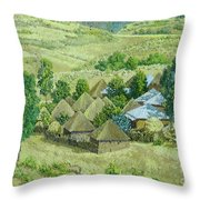 In Selale, Ethiopia Throw Pillow