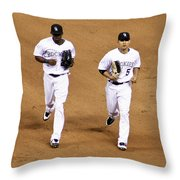 In Step Throw Pillow by Marilyn Hunt