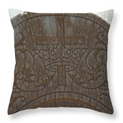 In Stone Cross And Crown Virginia City Nv Throw Pillow