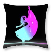 In Strength, Beauty Throw Pillow