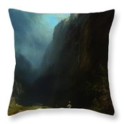 In The Alpine High Valley Throw Pillow