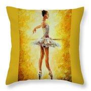 In The Ballet Class Throw Pillow