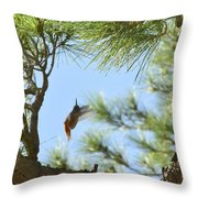 In The Big Tree Throw Pillow