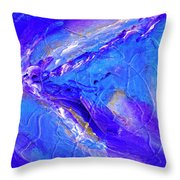 In The Blue Deep Throw Pillow