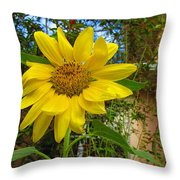 In The Blue Porterweed Throw Pillow