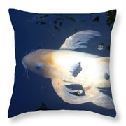 In The Blue World Throw Pillow