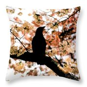In The Cherry Tree Throw Pillow