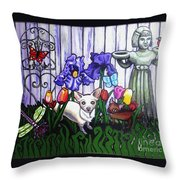 In The Chihuahua Garden Of Good And Evil Throw Pillow
