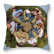 In The Circle Throw Pillow