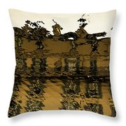 In The City Of Rains And Fogs # 1. Throw Pillow