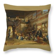 In The Classroom Throw Pillow