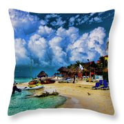 In The Cloud Throw Pillow