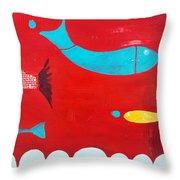 In The Clouds Part 2 Throw Pillow
