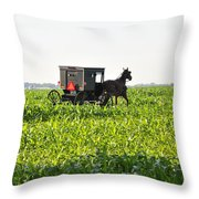 In The Corn Throw Pillow