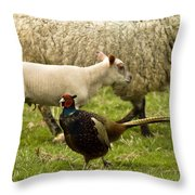 In The Countryside Throw Pillow