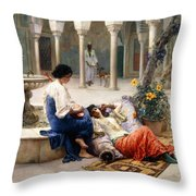 In The Courtyard Of The Harem Throw Pillow