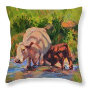 In The Creek Throw Pillow