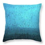 In The Dark Blue Rain Throw Pillow