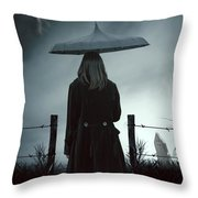 In The Dark Throw Pillow by Joana Kruse