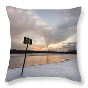 In The Deep End Throw Pillow