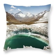 In The Depth Of Pamir Throw Pillow