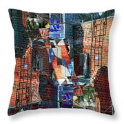 In The Down Town Throw Pillow