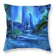 In The Eyes Of Aurora Throw Pillow