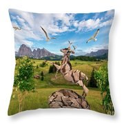 In The Field 25 Throw Pillow