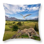In The Field 27 Throw Pillow