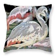 In The Flaming Spotlight Throw Pillow
