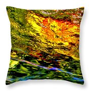 In The Flow 3 Throw Pillow