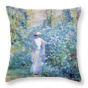 In The Flower Garden 1900 Throw Pillow