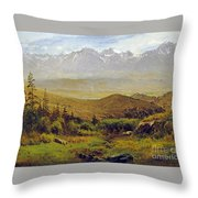 In The Foothills Of The Rockies Throw Pillow