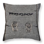 In The Footsteps Of Rocky Throw Pillow